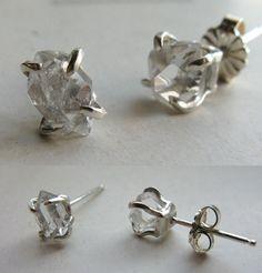 Herkimer Diamond Solitaire Earrings