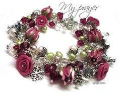 Polymer Clay Rose Bracelets