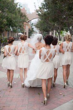 love the bridesmaid dresses. very unique and pretty!