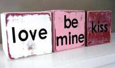Sweet crafts for Valentine's Day (like these DIY conversation blocks)