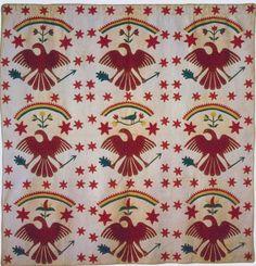 Eagles Quilt, c 1850. Ohio.