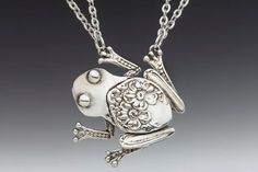 Spoon Necklace Tree Frog by Silver Spoon Jewelry by silverspoonj, $59.00