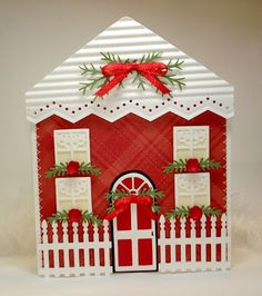 14 Best House Shaped Cards Images In 2013 Bird Houses