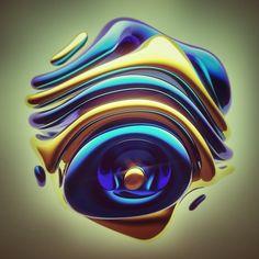 Procedural 3d Illustrations on Behance