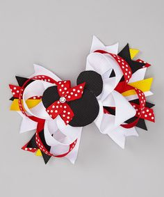 Look at this #zulilyfind! Red Mouse Bow Clip by Three Bears Hair Bows #zulilyfinds