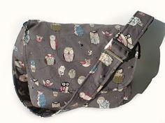 Owl Messenger  Bag / Purse/ Gray Owl Bag / by VintageGaleria, $45.95 I must have this bag!