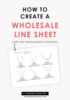 Free line sheet template | Line sheet tips | How to create a line sheet | Retail B-School.  Creating a line sheet is critical if you plan to sell your product wholesale to retail stores! This tutorial walks you through the process of making your own line sheet in Microsoft Word one step at a time (don't go wasting money on line sheet software!!) My free template is downloadable here too!