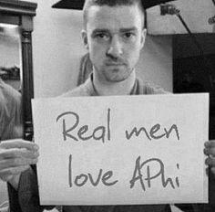 Justin timberlake loves alpha phi ;) ❤