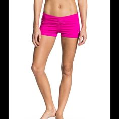 8a67a18b55 Roxy Ruched workout shorts used but in great condition, hot pink, very  adorable and
