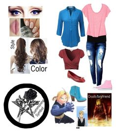 """""""My full metal alchemist oc"""" by cheergirl1798 ❤ liked on Polyvore featuring LE3NO, M&Co, Converse, Tommy Hilfiger and Pin Show"""