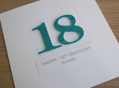 Handmade Th Birthday Cards Son ~ Handmade th birthday card personalized can be any age dad