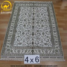 Hand knotted silk rug # Rug No.: P3067 # Quality: 180L (225kpsi) # Size: 4x6ft (122x183) # Material: 100% Silk # wholesale Price: $840/piece # If you have any interests, please email to sales@bosicarpets... handmadesilkcarpet#handmaderug#silkrug#silkcarpet#carpet#persiancarpet#persianrugs#rug#handmaderug#handknottedrug#iranrug#chineserug#turkeyrug#turkishcarpets#silkcarpets#silk#floorrug#hali#ipekhai#redrug#bluecarpet#turleycarpet