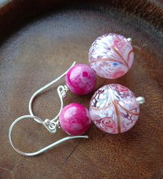 Darcey Earrings in Pink by Bohemian Butterfly