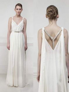 In this post we want to tell you about the Greek goddess style wedding dresses. See photos of Greek goddess style wedding dresses, leave your comments and share them with friends. Greek Style Wedding Dress, Grecian Wedding, Bridal Wedding Dresses, Cheap Wedding Dress, Wedding Pics, Greek Goddess Dress, Greek Dress, Grecian Goddess, Criss Cross