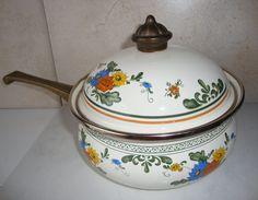 Hey, I found this really awesome Etsy listing at https://www.etsy.com/listing/121242016/vintage-enamel-floral-saucepan-with-lid