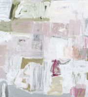 detail from_WHITE  FIELD  WITH  PINK AND  GREY_ art work by SYLVIA McEWAN _ sylviamcewan.com