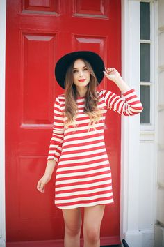 Breton Striped Reformation Dress