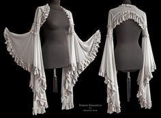 Buy Women Victorian Style Cape Bride Lace Patchwork Shawl Medieval Steampunk Wedding Accessories Angelic Shrug Long Flare Sleeve Crop Top at Wish - Shopping Made Fun Pretty Outfits, Beautiful Outfits, Cute Outfits, Gothic Fashion, Victorian Fashion, Dress Dior, Costume Prince, Shrug For Dresses, Steampunk Wedding