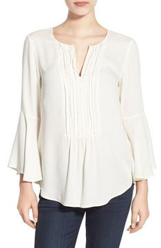 Ella Moss 'Stella' Bib Bell Sleeve Blouse available at #Nordstrom