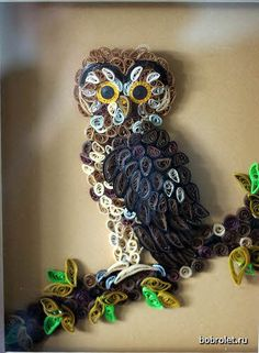 Quilled owl - by: Yorkshire Lass - Janet McAlistar (the watermark shown is incorrect.)