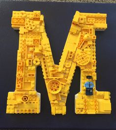LEGO letter mounted on canvas! Awesome!! by MosaicTreasureBox