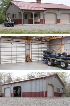 Pole barn garage my 30x40 pole barn garage pics the for Build office in garage