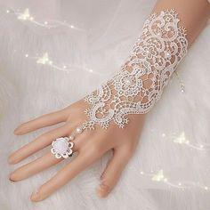 Free-Shipping-New-Hot-Sale-Fashion-White-Ivory-Pearl-Lace-Wedding-Bride-Bridal-Gloves-Ring-Bracelet