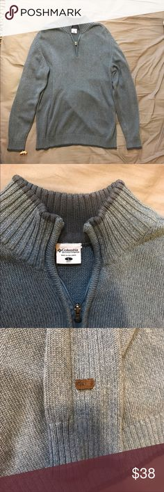 Very nice Columbia Sweater! Dry cleaned only, very nice! Columbia Sweaters Zip Up