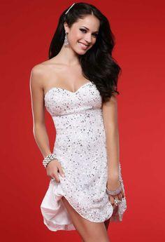 9d965a9f93 Scala prom dresses 1004 - Ivory strapless short formal dress