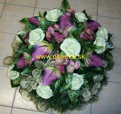 Pohrebná služba Okenka | Nitra - FOTOGALÉRIA - Vence z umelých kvetov Floral Wreath, Wreaths, Decor, Crowns, Floral Crown, Decoration, Door Wreaths, Deco Mesh Wreaths, Decorating