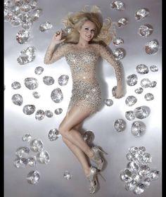fe96e14cb5ff Amanda Holden dazzles in diamond photoshoot Glitter Bodysuit