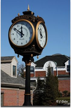 Scranton Street Clock by   Rob Gabor