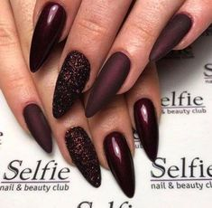 73 Most Stunning Dark Nails Inspirational Ideas ( Acrylic Nails, Matte Nails) ♥ - Diaror Diary - Page 13 ♥ 𝕴𝖋 𝖀 𝕷𝖎𝖐𝖊, 𝕱𝖔𝖑𝖑𝖔𝖜 𝖀𝖘!♥ ♥ ♥ ♥ ♥ ♥ ♥ ♥ ♥ ♥ ♥ ♥ ღ♥ Everythings about Stunning nails design you may love! ღ♥ s҉e҉x҉y҉ Fabulous Nails, Gorgeous Nails, Love Nails, Pretty Nails, Dark Nails, Red Nails, Hair And Nails, Dark Nail Art, Color Nails