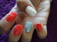Funky orange fun nails