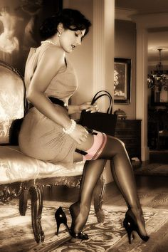 silk stockings and garters are soooo sexy.