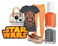 """""""BB-8"""" by leclairedelune ❤ liked on Polyvore featuring Essie, Chloé, Disney, starwars, starwarstheforceawakens and BB8"""