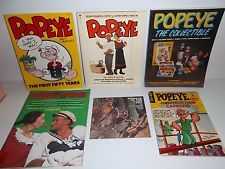 POPEYE lot 5 books, First Fifty Years, Prevue Movie Novel Robin Williams