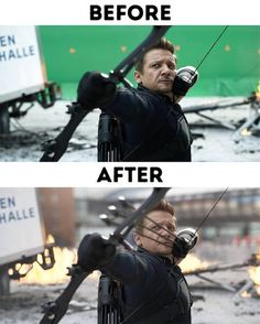 30 Behind the Scenes of Iconic Special Effects Shots - bemethis Marvel Comics Superheroes, Marvel Vs, Disney Marvel, Avengers Memes, Marvel Memes, Movie Special Effects, Computer Generated Imagery, Captain America Civil, Movie Shots