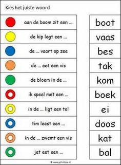 Deze knijpkaart en nog veel meer in de categorie taal kun je downloaden op de website van Juf Milou. Learn Dutch, Kids Writing, Stress, Social Platform, Kids And Parenting, Spelling, Language, Classroom, Letters