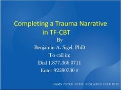 Completing a Trauma Narrative in TF-CBT - YouTube