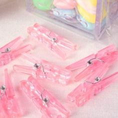 Mini Baby Clothes Peg Pink (12)