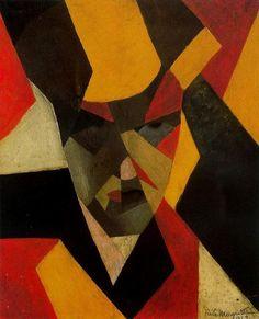 René Magritte「Self portrait」(1923)
