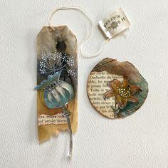 Collage on used tea bags