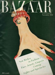 New Fashion Magazine Cover Design Harpers Bazaar Ideas Bazar Vintage, Vogue Vintage, Vintage Vogue Covers, Moda Vintage, Vintage Fashion, Trendy Fashion, Vintage Art, Retro Fashion, Cheap Fashion