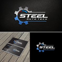 STEEL Auto Tech - Develop a logo for a new start up repair shop in the sunny Okanagan valley. The business is an automotive repair shop repairing and servicing cars, light to medium duty trucks, RV's, UTV's and . Best Logo Design, Ad Design, Logo Sticker, Sticker Design, Gear Logo, Automotive Logo, Motorcycle Logo, Bussiness Card, Garage Design
