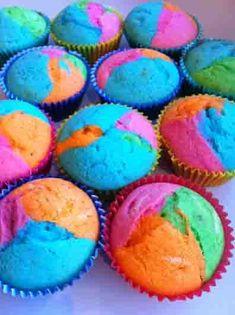 rainbow cupcakes baked #Rainbows