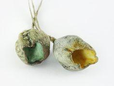 Artisan Ceramic Porcelain Beads Pods via Etsy