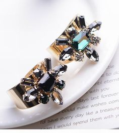 Bohemia Vintage Unique Women Rhinestone Finger Rings Big Crystal Metal Rings for Women Jewelry AR232