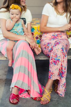 LulaRoe maxi skirts in pretty pinks.  http://www.lularoe.com
