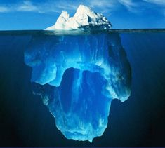 The classic visual representation of the Meta Model. What lies below the surface is far greater than what is shown. Questioning what unconscious beliefs lie in the 'deep structure' that drives Sheryl's outward behaviour would be enlightening for her. Once more of this is uncovered she herself can begin challenging her own self-limiting beliefs to produce different reactions. This can give her more choice of how to respond.